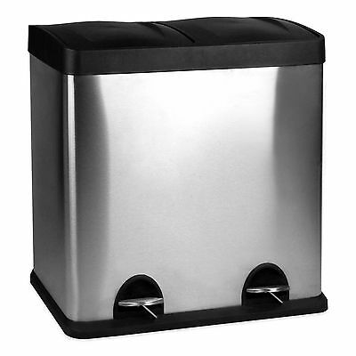 business 60 Liter Dual Recycle Bin with foot pedals office garbage recycling can