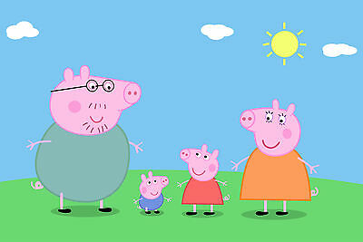 Peppa Pig Poster 3 (Sizes-A5-A4-A3-A2) + A Surprise A3 Poster / Tumble/ben Holly