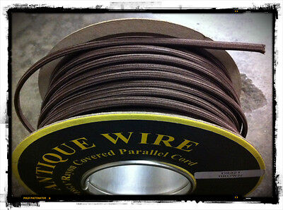 100 ft. Spool of Brown Parallel Rayon Covered Wire SPT-1