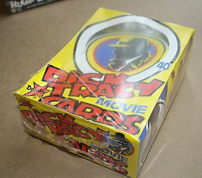 Dick Tracy unopened sealed box Bubble Gum cards 60 packets
