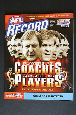 2000 Geelong vs Hawthorn qualifying and elimination final football record unused