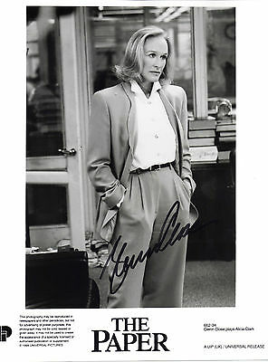 "STUNNING 10"" x 8"" PHOTO / PROMO (COA) SIGNED ""TTM"" BY GLENN CLOSE IN ""THE PAPER"""