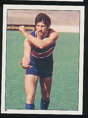 1983 Scanlens Stickers Footscray Bulldogs Ian Dunstan sticker No 64 mint