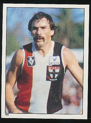 1983 Scanlens Stickers St Kilda Saints Jeff Sarau No 160 sticker Mint