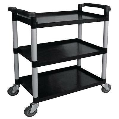 Mobile Catering Trolley Polypropylene Black Restaurant Cafe 960 x 520 x 1070mm