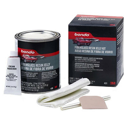 3M Products 431 Bondo Fiberglass Resin Jelly Kit 1-Pint Can For Repairing And