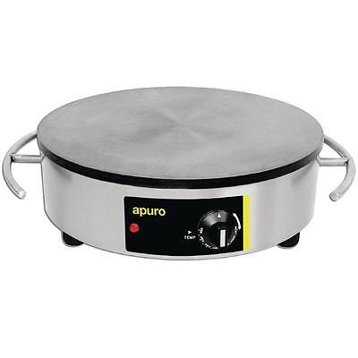 Apuro Electric Crepe Maker Commercial Stainless Steel 410mm 2.9kW Catering