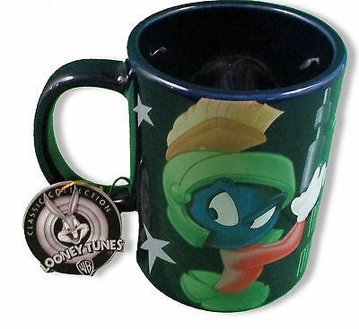 Marvin The Martian Looney Tunes Coffee Mug SPINNER Classic Collection 12 oz HTF