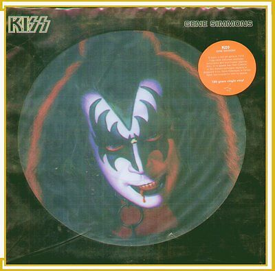 "Gene Simmons "" Kiss Disco Picture "" Lp Sigillato 180 Gram Virgin Vinyl (Russia)"