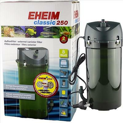 Eheim External Canister Aquarium Filter Classic 250 (Model 2213) 20-66 Gallons
