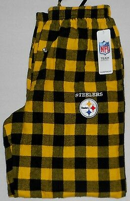 Pittsburgh Steelers Sleep Lounge Pajamas Pants Flannel Men's S M L Xl 2X Yellow