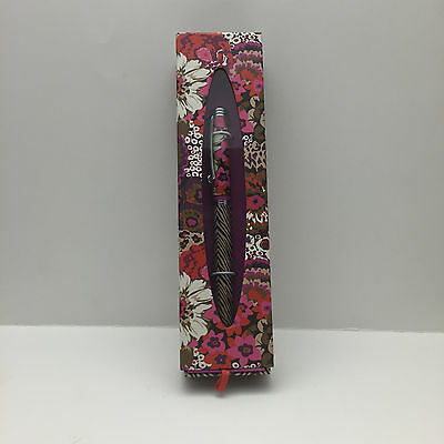 Vera Bradley BALL POINT PEN BLACK INK COLOR ROSEWOOD-  NEW IN BOX