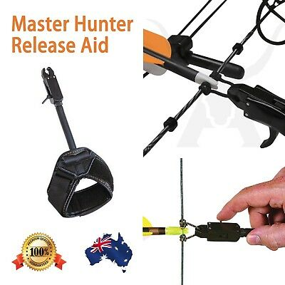Adjustable Release Aid For Compound Bow Trigger Archery With Velcro Strap Oz