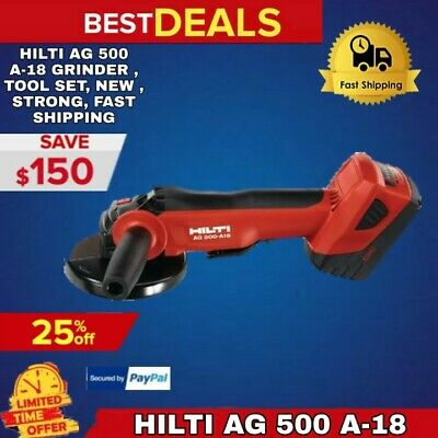 Hilti Ag 500 A-18 Grinder , Tool Set, New , Strong, Fast Shipping