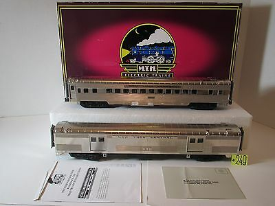 """MTH New York Central 2-car 70"""" streamlined Baggage/Coach Passenger Set  20-69146"""
