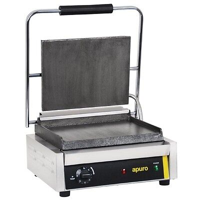 Apuro GH577-A Commercial Contact Grill Sandwich Press Restaurant Cafe Catering