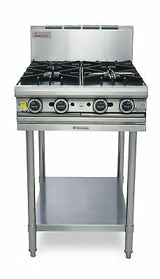 Trueheat T60-4 600mm 4 Burner or Griddle Combo NAT or LPG with Stand True Heat