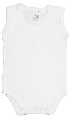 New Combed Cotton Sleeveless Baby Body Suits Made In UK Direct From Manufacturer