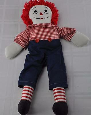 """Vintage 24"""" Raggedy Andy with Sewn on Face"""