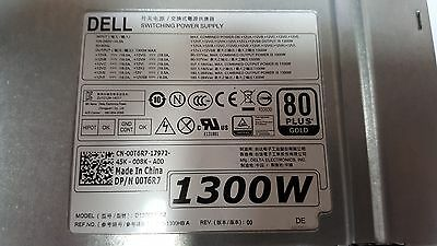 Dell Power Supply 1300W 80 Plus Gold For Dell Precision Tower 7910 0T6R7