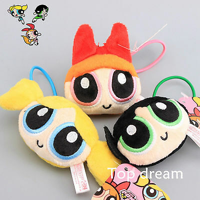 The Powerpuff Girls Rubber Band 1999 Cartoon Network Plush Doll Toy for Girls