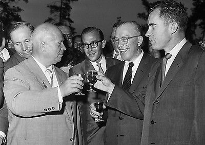 Art print POSTER / CANVAS Khrushchev and Nixon Drinking Pepsi-Cola