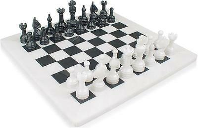 "Beautiful Handcrafted Marble/Onyx Chess Board Set. Size 12"" x 12"". New with box"