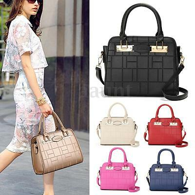 Women Ladies Leather Shoulder Bag Handbag Tote Purse Messenger Crossbody Satchel