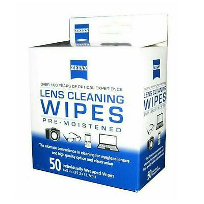 [ZEISS] Lens Cleaning Wipes 50 Count, 50pcs, Box, LCD, LED, Camera, smartphone