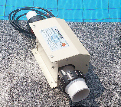 220V Swimming Pool and SPA Heater Electric Heating Thermostat 2KW NEW