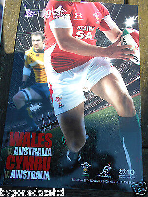 WALES v AUSTRALIA INVESCO PERPETUAL NOVEMBER 2009 RUGBY PROGRAMME