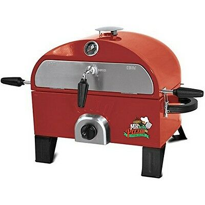 Mr. Pizza GOT1509M Pizza Oven and Grill- Red NEW