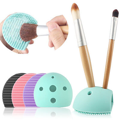 Cleaning Washing Glove Mat Finger Brush Egg Wish Hole Scrubber Silicone Makeup
