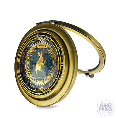 Disney Parks Alice Through the Looking Glass Compact Mirror Makeup Rabbit