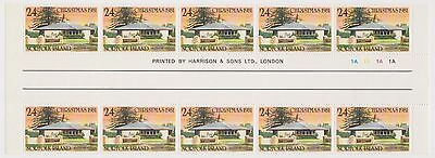 (OX-61)1981 Norfolk Island 24c Christmas churches gutterStrip of10stampsSG266MUH