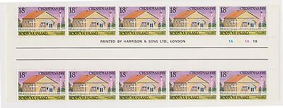 (OX-60)1981 Norfolk Island 18cChristmas Churches gutterStrip of10stampsSG265MUH