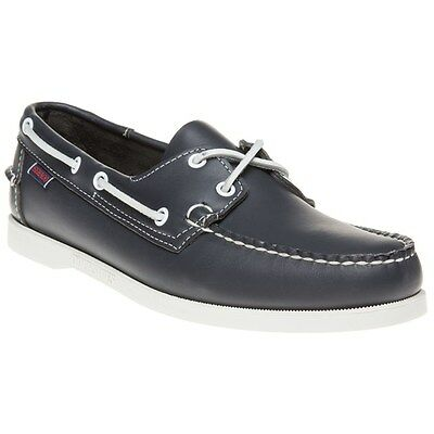 New Mens Sebago Blue Docksides® Leather Shoes Boat Lace Up