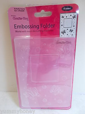 Embossing Folder A6 Butterfly Frame Crafts Too CTFD3040