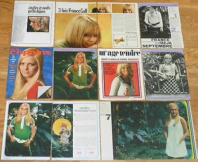 FRANCE GALL french clippings 1960s photos articles vintage magazine