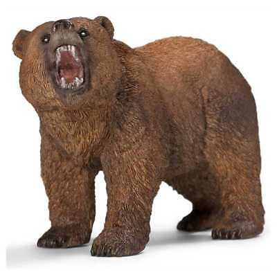 ORSO GRIZZLY animali in resina SCHLEICH miniature 14685 wild life BEAR