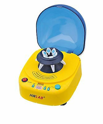 HWLAB® Multi-Speed Desk Top Mini Centrifuge, 1000-12000 RPM Adjustable Speed