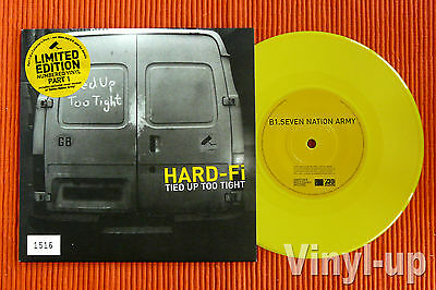 "HARD-FI - TIED UP TOO TIGHT   Ltd Edition Numbered Yellow Vinyl  7"" single  NEW"