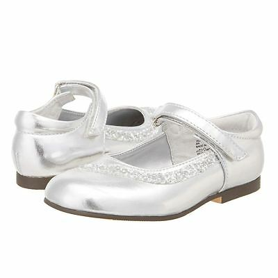 Jumping Jacks Toddler Girls DANIELLE Silver Mary Jane Formal Party Dress Shoes