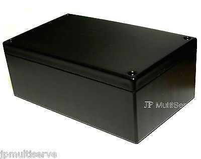 Project Box 6.25 x 3.75 x 2.4 inches Black Plastic Enclosure