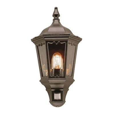 Medstead Outdoor Half Lantern With Pir - Elstead MD7 PIR BLACK