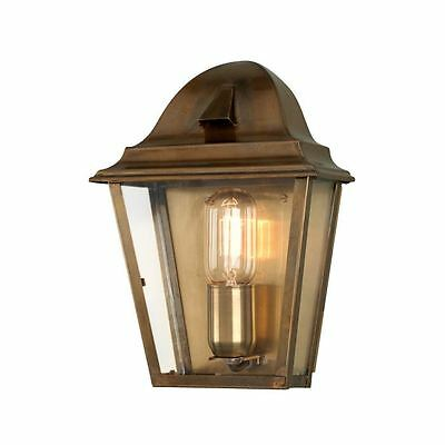St James Outdoor Wall Lantern Brass - Elstead ST JAMES BRASS