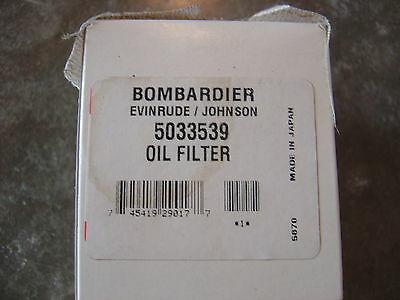 New Oem Evinrude Johnson Brp Omc Oil Filter 5033539 Ob7
