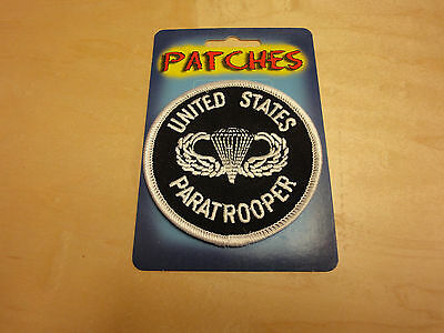 United States Army Paratrooper Logo Round Patch