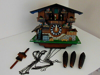 Vintage German Twirling Couples & Wheel Cuckoo Clock Bellows need Replacing