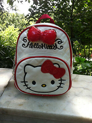 HelloKitty White Pink Red Hot Pink  Backpacks School Book Bag 2018 New Pu Bow